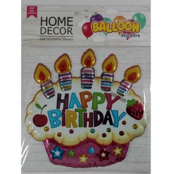 autokolita baloon happy birthday